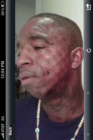 Wtf moment of the week gucci mane s ice cream tattoo on for Gucci mane ice cream tattoo shirt