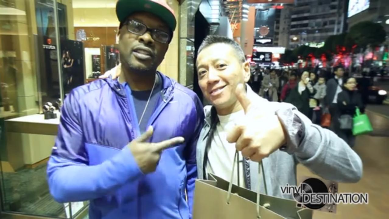 DJ Jazzy Jeff and new friend