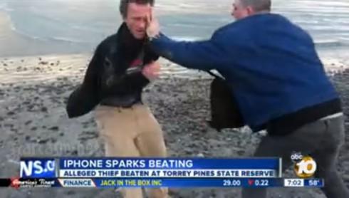 iPhone thief fight