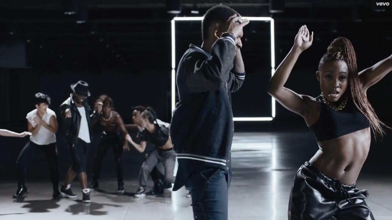 Usher and dancer
