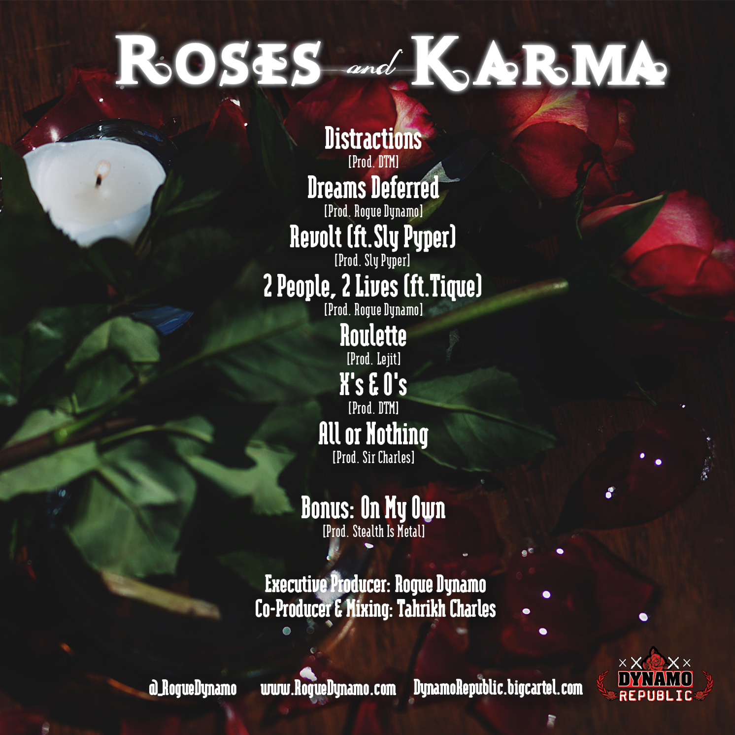 Rogue Dynamo - Roses and Karma (EP)- BackCover