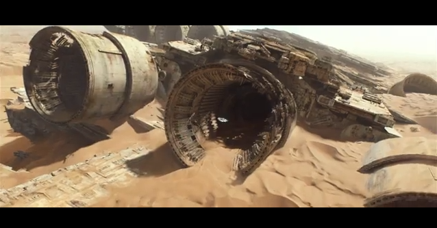 STAR WARS - ABANDONED SHIP ON TATOOINE?