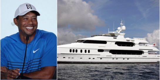 tiger woods  20 million dollar yacht  video